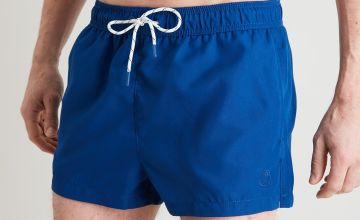 Blue Recycled Super Shortie Swim Shorts