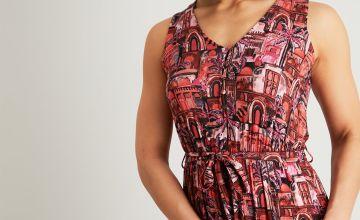 Marrakesh Scene Print Maxi Dress