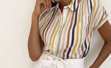 Brighton Rock Stripe Short Sleeve Shirt