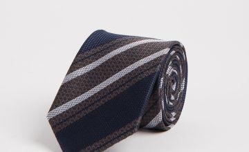 Blue & Grey Stripe Tie - One Size