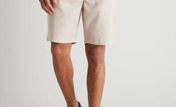 Ochre & Cream Fine Stripe Smart Shorts