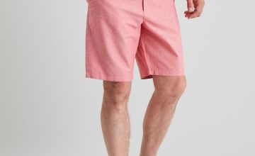 Pink Belted Oxford Chino Shorts