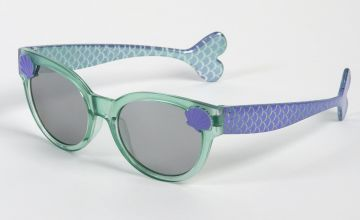 Aqua Blue & Lilac Mermaid Sunglasses