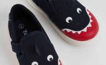TOEZONE First Walker Navy Shark Skater Shoe