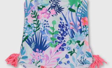 Floral Print Tassel Swimsuit