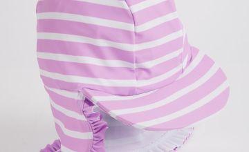 Lilac & White Stripe Keppie Hat