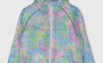 Multicoloured Pastel Shower Resistant Raincoat