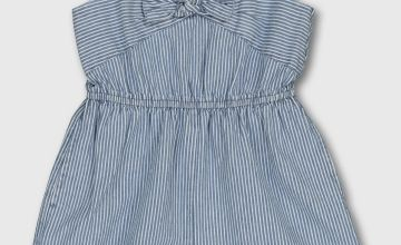 Blue & White Pinstripe Playsuit