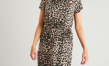 PETITE Leopard Print Maxi Dress
