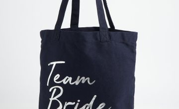 Navy Team Bride Canvas Bag - One Size