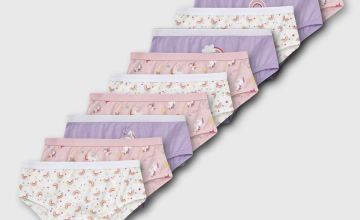 Pastel Unicorn & Rainbow Briefs 10 Pack