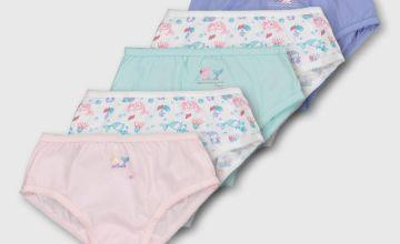 Peppa Pig Mermaid Pastel Briefs 5 Pack