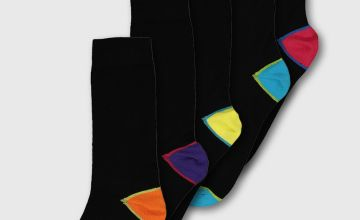Navy Two Tone Brights Stay Fresh Socks 5 Pack