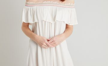 Cream Tassel Hem Cover Up Dress