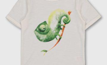 White Chameleon Graphic T-Shirt