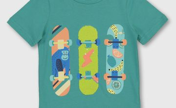 Green Skateboard T-Shirt