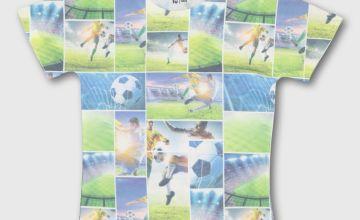 Green Football Photographic T-Shirt