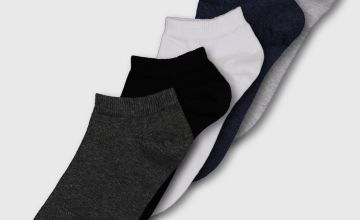 Multicoloured Stay Fresh Trainer Socks 5 Pack