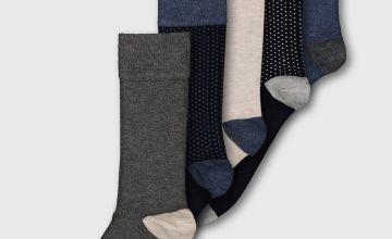Navy Luxury Bamboo Socks 5 Pack