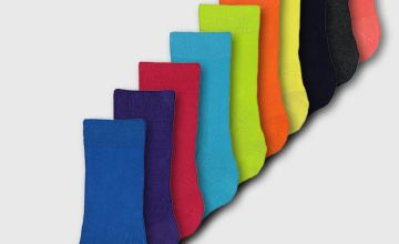 Tropical Brights Stay Fresh Ankle Socks 10 Pack