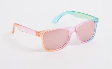 Rainbow Glitter Sunglasses