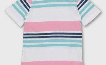 Pink & Blue Stripe T-Shirt