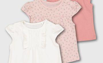 Pink Cherry Print T-Shirts 3 Pack