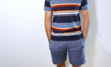 Navy Marl Jersey Shorts