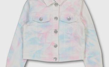 Tie-Dye Denim Jacket