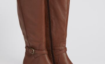 Sole Comfort Tan Leather Riding Boots