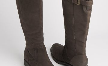 Sole Comfort Brown Leather Rider Boots