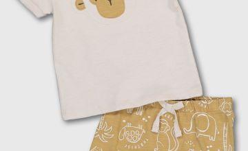 Monkey T-Shirt & Mustard Shorts