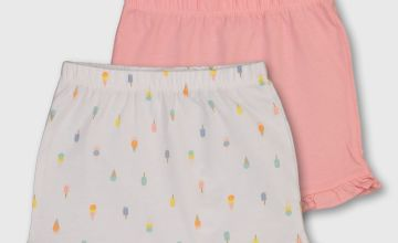 Ice Cream & Lolly Print Shorts 2 Pack