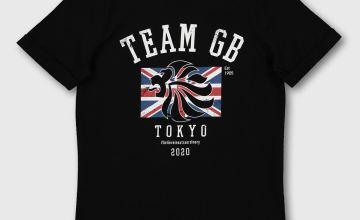 Mini Me Team GB Tokyo 2020 Black T-Shirt