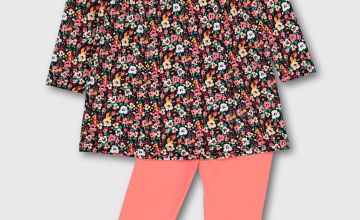 Floral Dress & Leggings Set