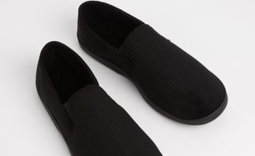 Black Full Slippers With Arch Support