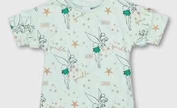 Disney Tinker Bell Green Ruffle T-Shirt