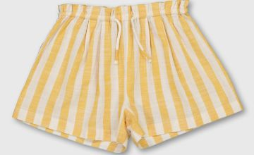 Yellow Stripe Woven Shorts