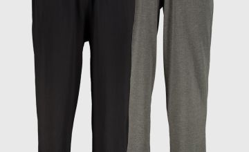 Black & Grey Long Pyjama Bottoms 2 Pack