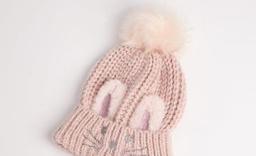Pink Knitted Bunny Hat