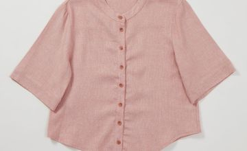 Graduate Fashion Week Pink Blouse With Linen