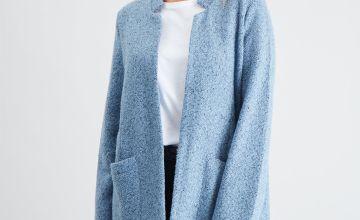 Blue Notch Neck Jacket