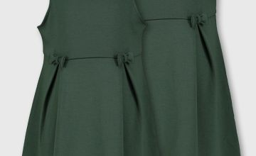 Dark Green Jersey Dresses 2 Pack