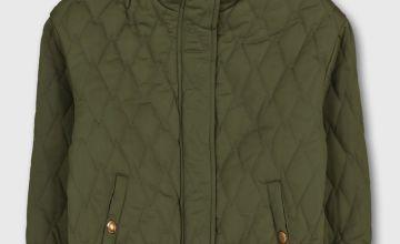 Khaki Quilted Jacket