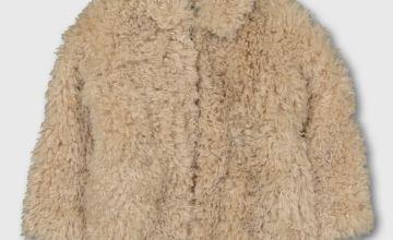 Cream Borg Fleece Jacket