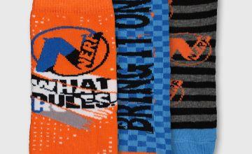 Nerf Orange, Blue & Grey Socks 3 Pack