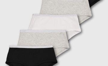 Mono Plain Short Briefs 5 Pack - 4-5 years