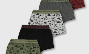 Khaki Dinosaur Trunks 5 Pack