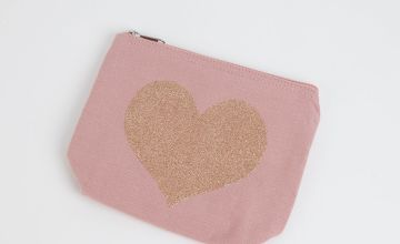 Pink Alphabet Letter Cosmetic Bag