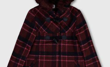 Pink Check Duffle Coat